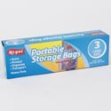 Storage Bags Portable 3ct Large Zipper Seal 15x15 Heavy Duty