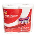 Bath Tissue 4pk 2 Ply Double Roll Ahold Brand