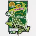 Play Pack Crayola Green Stickers,fun Size Book,stencils