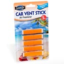 Air Freshener Hawaiian Mist Car Vent Stick 5pk Carded