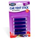 Air Freshener Wild Berries Car Vent Stick 5pk Carded