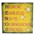 Box Sign 8 X 8 Heros Wooden (7.00)