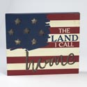 Box Sign Led 11x9.5 Americana Wooden (12.50)