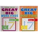 Word Finds Great Big 96 Pages 2 Asstd In 120 Ct Floor Display Ppd $3.95  Made In Usa