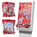 Candy Rudolph Lip Pops 3asst .8 Oz In Floor Display