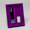 Photo Frame 4 X 6 Snap Bright Purple Ornate *4.99* Plastic #mfg 12fp1281