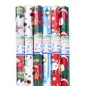 Gift Wrap Christmas 40 Sq Ft 1.5 Inch Core Asst Designs Ppd $3.99 40in X 12ft Roll Made In Usa