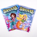 Color/activity Book Bilingual Mermaids 96pg In Pdq 2 Assorted