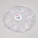 Clear Round Tray 13.5 Inch Cut Glass Look In Pdq 280g #104
