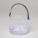 Ice Bucket With Silver Plastic Handle 40 Oz 213g In Pdq Cut Glass Look