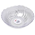 Serving Bowl 10 Inch Round Clear Swirl Design In Pdq