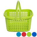 Basket With Folding Handles 6 Colors 289g In Pdq 11-1/2l X 9-3/8w X 7-3/4h