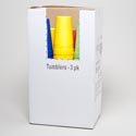 Tumblers 22 Oz 3ct 6 Colors In Pdq