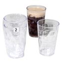 Tumblers Glass-look Clear 2pk 18 Oz In A White Pdq