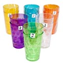 Tumblers Glass-look 6 Colors 2pk 18 Oz In A White Pdq