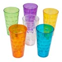 Tumblers Glass-look 6 Colors 1ct 24 Oz In Pdq