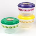 Food Storage Container 66oz W/3 Designs 120g #fiesta 2500