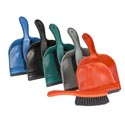 Dust Pan W/brush & Rubber Lip 8.5in 6 Colors #dp002
