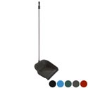 Dust Pan W/rubber Lip & 29 Inch Handle W/white Pole 6 Colors #dp005