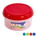 Food Storage Container Round 52 Oz 6 Color Lids W/clear Bottom #wonder Fresh 1500