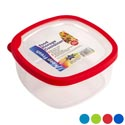Food Storage Container Square 4 Color Rubber Rim On Lid 1.7l 7.1 X 7.1 X 3.5h