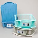 Dish Drainer 2pc 17l X 5h 3 Colors #ss002