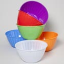 Serving Bowl With Emboss Stripes 6.25 Qt 6 Colors 11.5x6 In Pdq