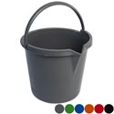 Bucket 2.5gal W/handle & Spout 6ast Clrs Recycled Plastic Pp 11x10in
