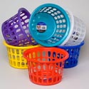 Basket Round 6 Asst Colors 12x7h #120-0105