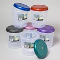 Food Storage Container Round 3qt 6 Metallic Lid Colors Clear Bottom #fresh 3000