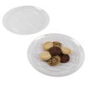 Serving Tray Crystal Clear 14in Round In White Pdq