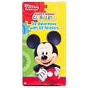 Valentine Cards 32ct Deluxe Mickey W/stickers *2.99*