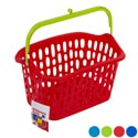 Basket W/plastic Handle & Hook 4 Colors 10x7x5.5 In Pdq Melody