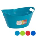 Basket Oval Tub W/double Handles 5.25x12.5 4 Colors In Pdq #oval Handy