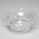 Bowl Footed 12 Inch Crystal Look Cut Glass Look Plastic #112 Holds 122 Oz