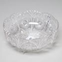 Bowl Footed Scalloped 10.5 Inch Crystal Like Cut Glass Look #919 Holds 116 Oz