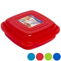 Food Storage Container W/hinged Lid 38 Oz 5 Asst Colors In Pdq