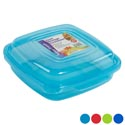 Food Storage Container W/hinged Lid 38 Oz 4 Colors In Pdq #venice Container