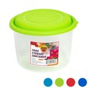 Food Storage Container Round 104 Oz Clear Bottom/4 Color Lids In Pdq #new Cont 4