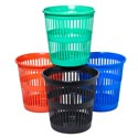 Waste Basket Round Slotted Plast 10.5 X 11- 4 Colors #every Day Basket