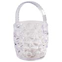 Ice Bucket Clear With Folding Handle 42 Oz Crystal Look In Pdq Bubble Design