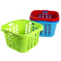 Laundry Basket Square With 3 Handles 4 Colors #0626 19.25l X 18.66 X 12.2