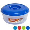 Round Food Storage Container 3 Qt 6 Color Lids -clear Bottom #omega Bowl 5