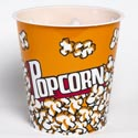 Popcorn Bucket Theater Style Plastic 7x7.5 Round In Pdq Bpa Free Yellow
