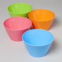 Bowl Small Ribbed 48oz 6 Colors Green, Orange, Purple, White, Blue, Pink -w/bpa Free Label