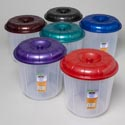 Bucket With Lid 7 Qt Clear Bottom/6 Mettalic Color Lids #bucket W/lid