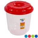 Bucket With Lid 3 Qt Clear Bottom - 4 Color Lids #eco 503