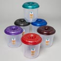 Bucket With Lid 3 Qt Clear Bottom/6 Metallic Color Lids #eco 503