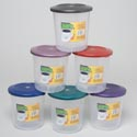 Food Storage Container 1.5 Qt 6 Metallic Colors #delta 1500