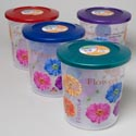 Food Storage Cont 3 Designs 6.5 Qt/26 Cups 4 Metallic Colors Lids #delta 6250